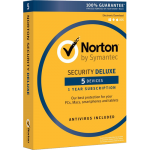 Norton Security Deluxe - 5 Devices, 1 Year North America (Download)