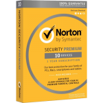 Norton Security Premium with Backup - 10 Devices, 1 Year (Download)