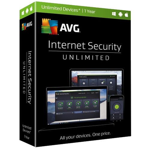 AVG Internet Security - Unlimited Devices, 1 Year (Download)
