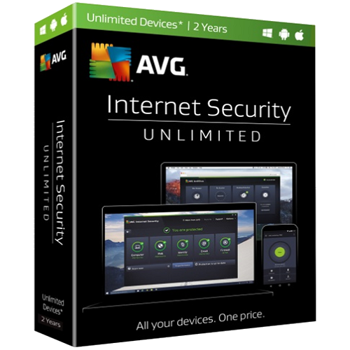 AVG Internet Security - Unlimited Devices, 2 Year (Download)
