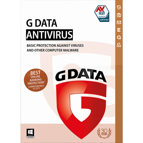 G Data Antivirus - 3 PC, 1 Year (Download)
