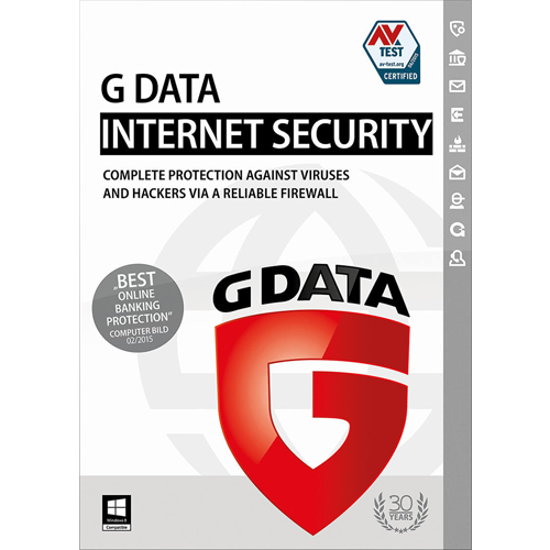 G Data Internet Security - 1 PC, 1 Year (Download)