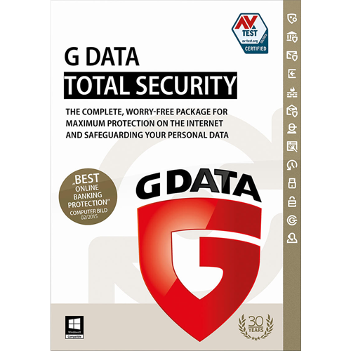 G Data Total Security - 3 PC, 1 Year (Download)