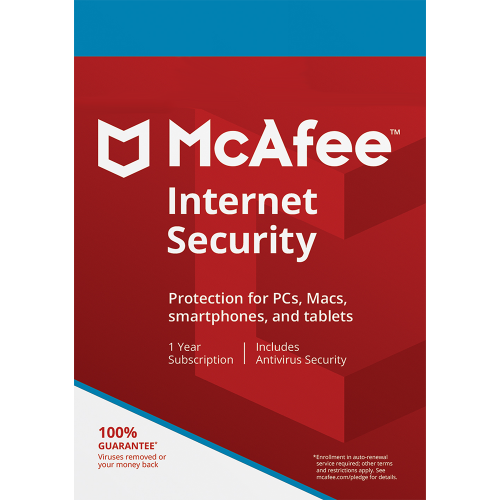 McAfee Internet Security -  1 Year, Unlimited Devices (Download)