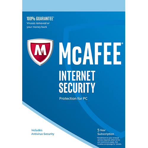 McAfee Internet Security - 5 Year, 1 PC (Download)