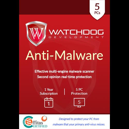 Watchdog Anti-Malware - 5 PC, 1 Year (Download)