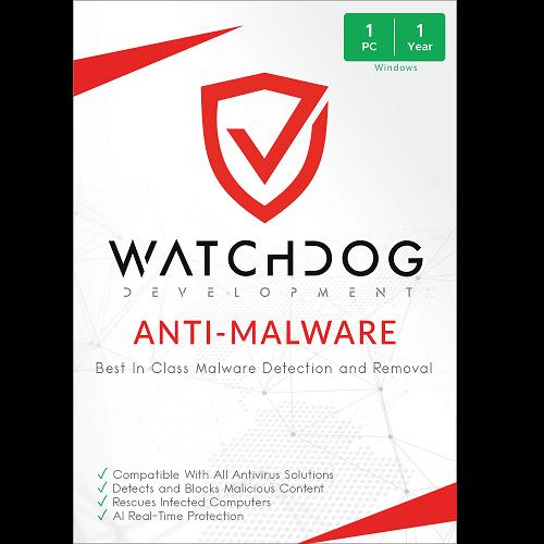 Watchdog Anti-Malware - 1 PC, 1 Year (Download)