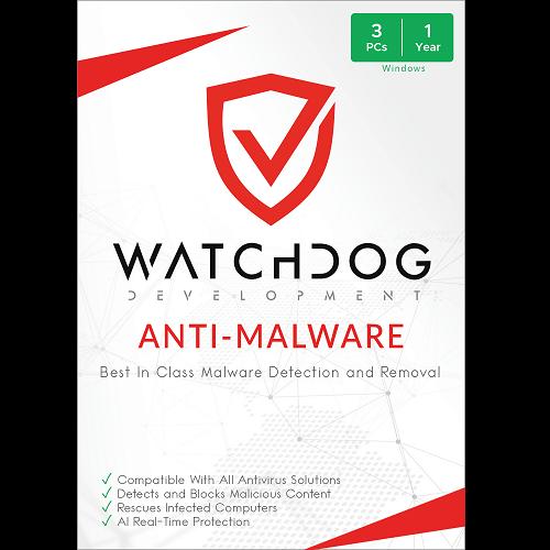 Watchdog Anti-Malware - 3 PC, 1 Year (Download)
