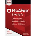 McAfee LiveSafe - Unlimited Devices, 1 Year (Download)